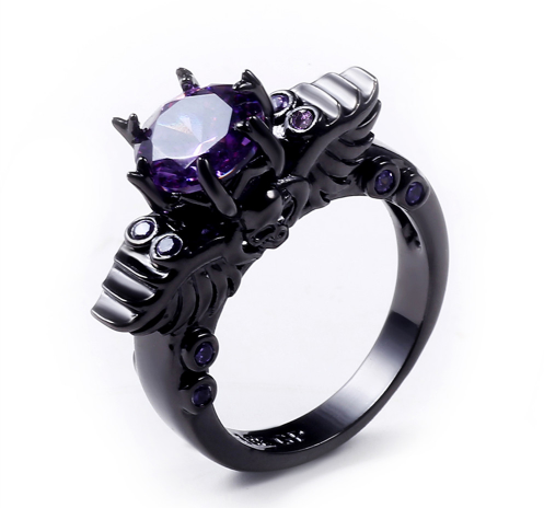 Women's Black Goth Ring Giveaway