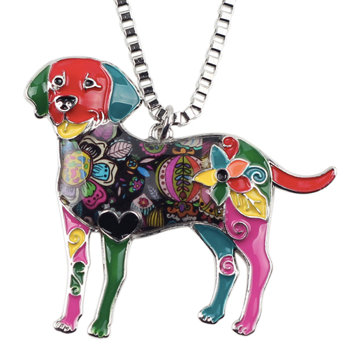 Labrador Enamel Necklace Secret Giveaway