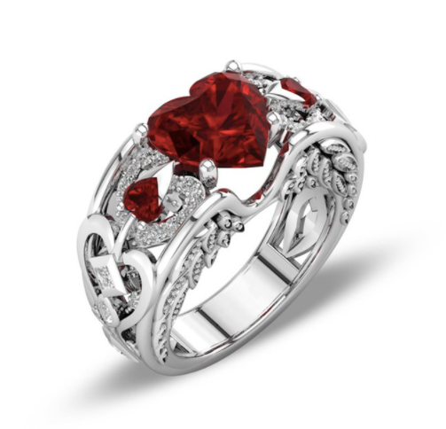Heart Wing Ring For Women