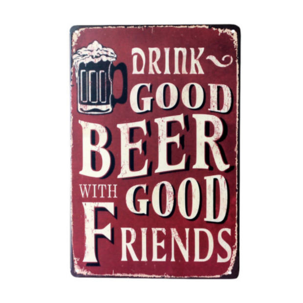 Good Beer Good Friends Vintage Board