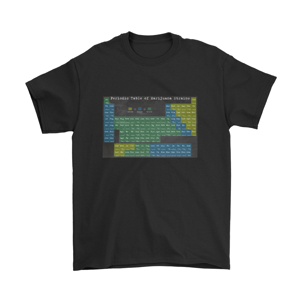 Periodic Table of Cannabis Strains T-Shirt