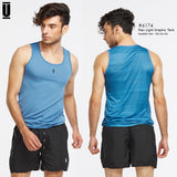 6174 : Unizep Malaysia - Men Light Graphic Tank