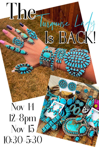 TURQUOISE TRUNK SHOW!