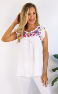 MARIPOSA TOP - WHITE