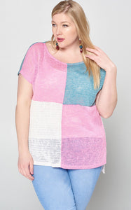 GEO COLORBLOCK KNIT