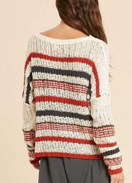 ELLE LAIN - FISHNET SWEATER - CREAM