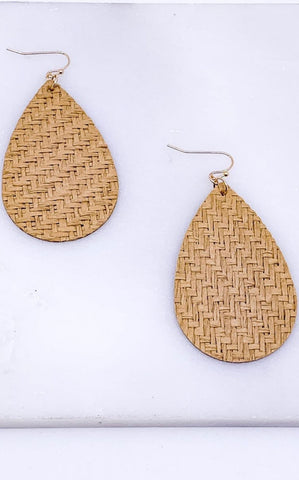 NATURAL WEAVE EARRINGS