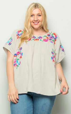 CHULA TOP - GREY - PLUS
