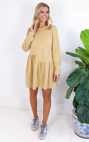 SEEDA SWING DRESS - CAMEL