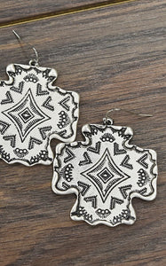 AZTEC CROSS EARRINGS