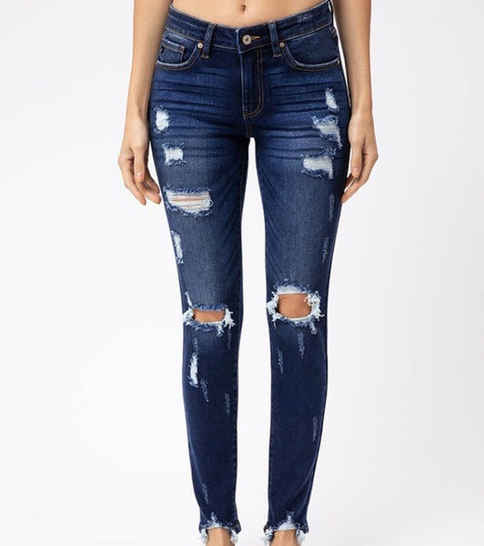 CANNON DISTRESSED DENIM JEANS