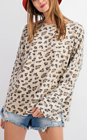 FADED LEOPARD - KHAKI
