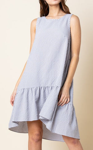 ELLE LAIN - GINGHAM SHIFT - GREY