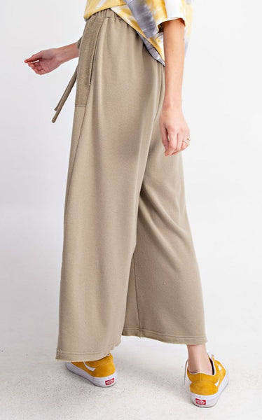 FRENCH TERRY PANTS - GREY