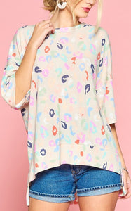 LAZY LEOPARD TUNIC - RAINBOW
