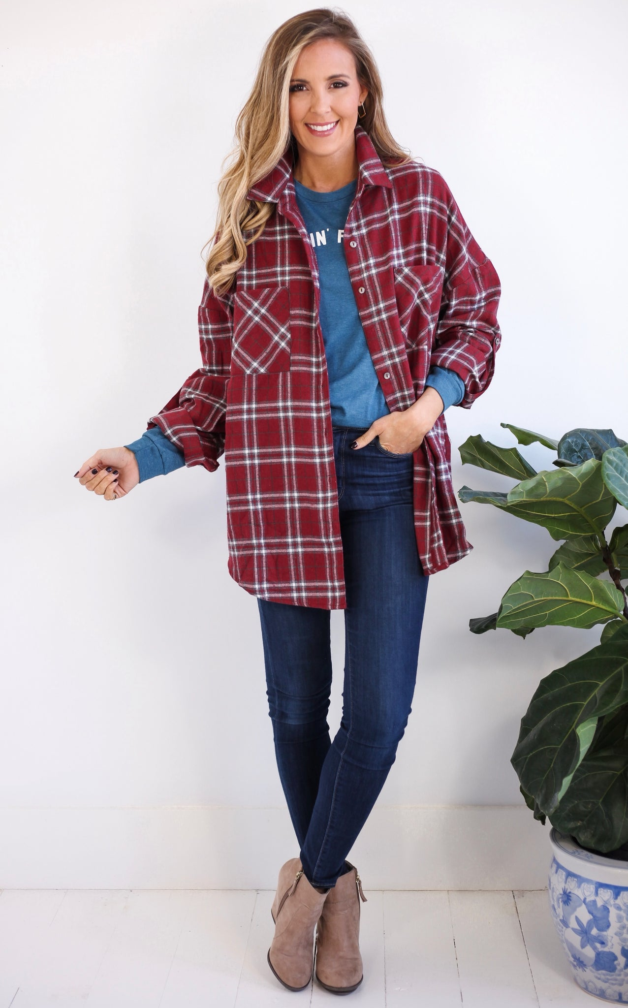 CAMPING FLANNEL - WINE