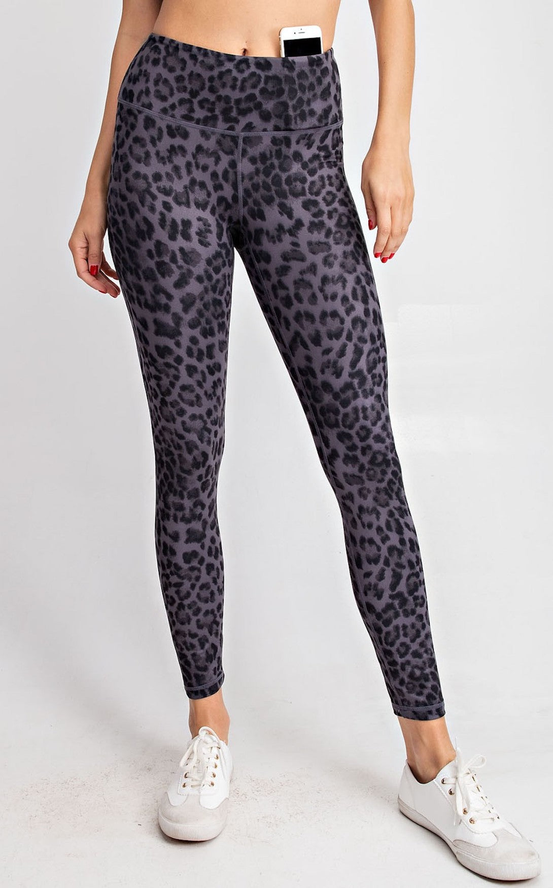 ELLE LAIN - BUTTER SOFT LEGGING DARK LEOPARD