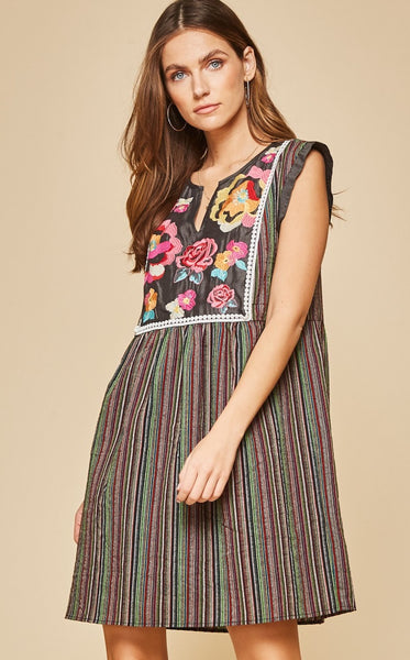 MORELIA EMBROIDERED DRESS