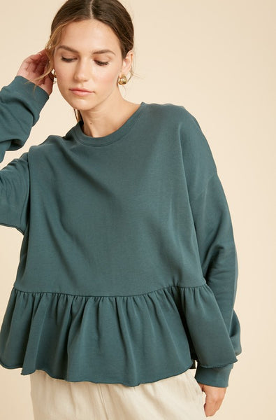 ELLE LAIN - SWING SWEATSHIRT - FOREST