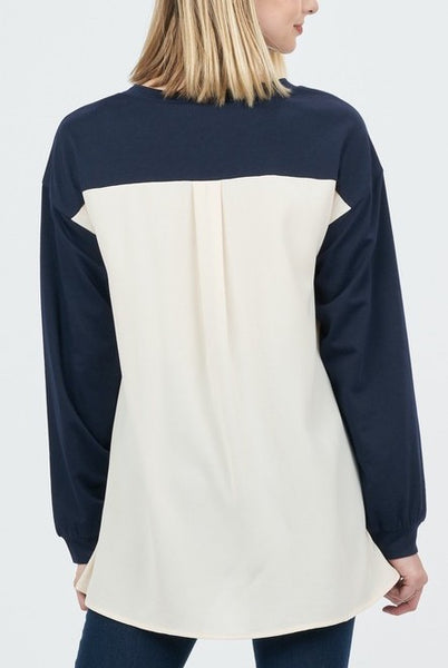 BACK UP PULLOVER - NAVY