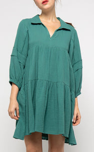 ELLE LAIN - COTTON SWING DRESS - TEAL