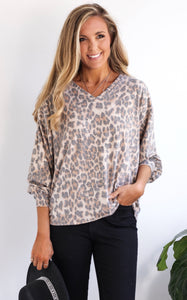 LIZBETH LEOPARD TOP