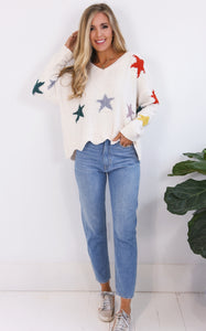 ELLE LAIN - CHENILLE STAR SWEATER