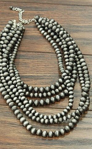 SIX STRAND NAVAJO PEARL NECKLACE