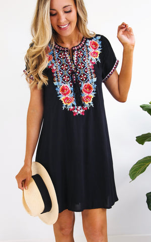 PAMELA EMBROIDERED DRESS