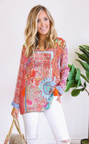TASSEL TUNIC - ORANGE