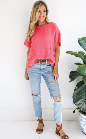 ABIGAIL TOP - CORAL