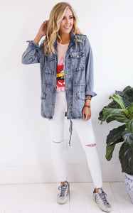 ELLE LAIN - DENIM CARGO JACKET