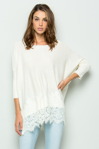 DOVE LACE TOP - CREAM