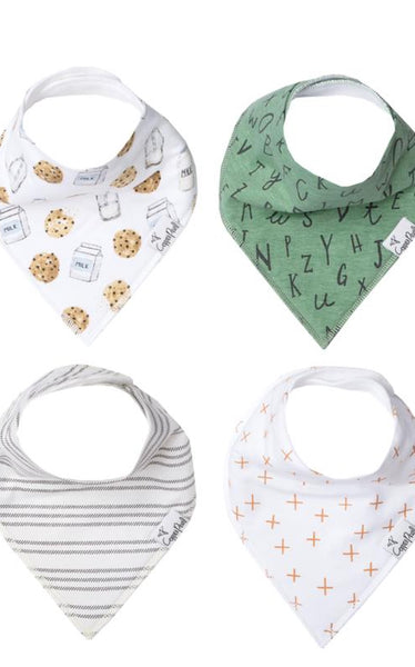 SET OF 2 BABY BANDANA BIBS - ALPHABET