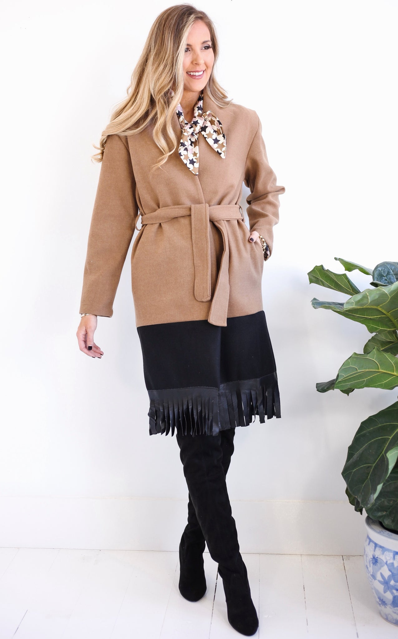 ELLE LAIN - BUENOS TWO TONE COAT