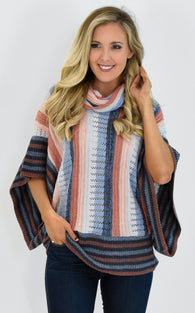 STRIPE DOLMAN SWEATER