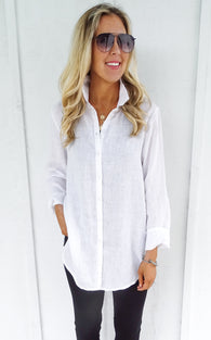 CROSSROADS BLOUSE - WHITE