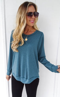 STYX TOP LONG SLEEVE - TEAL
