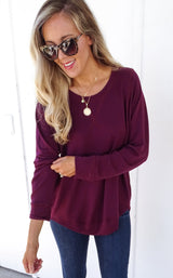 STYX TOP LONG SLEEVE - WINE
