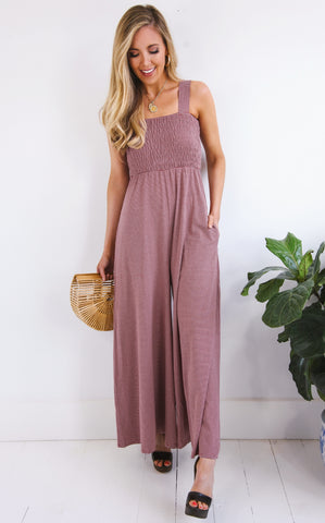 ELLE LAIN - CAROLINA STRIPE JUMPSUIT