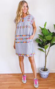ANIKA EMBROIDERED DRESS