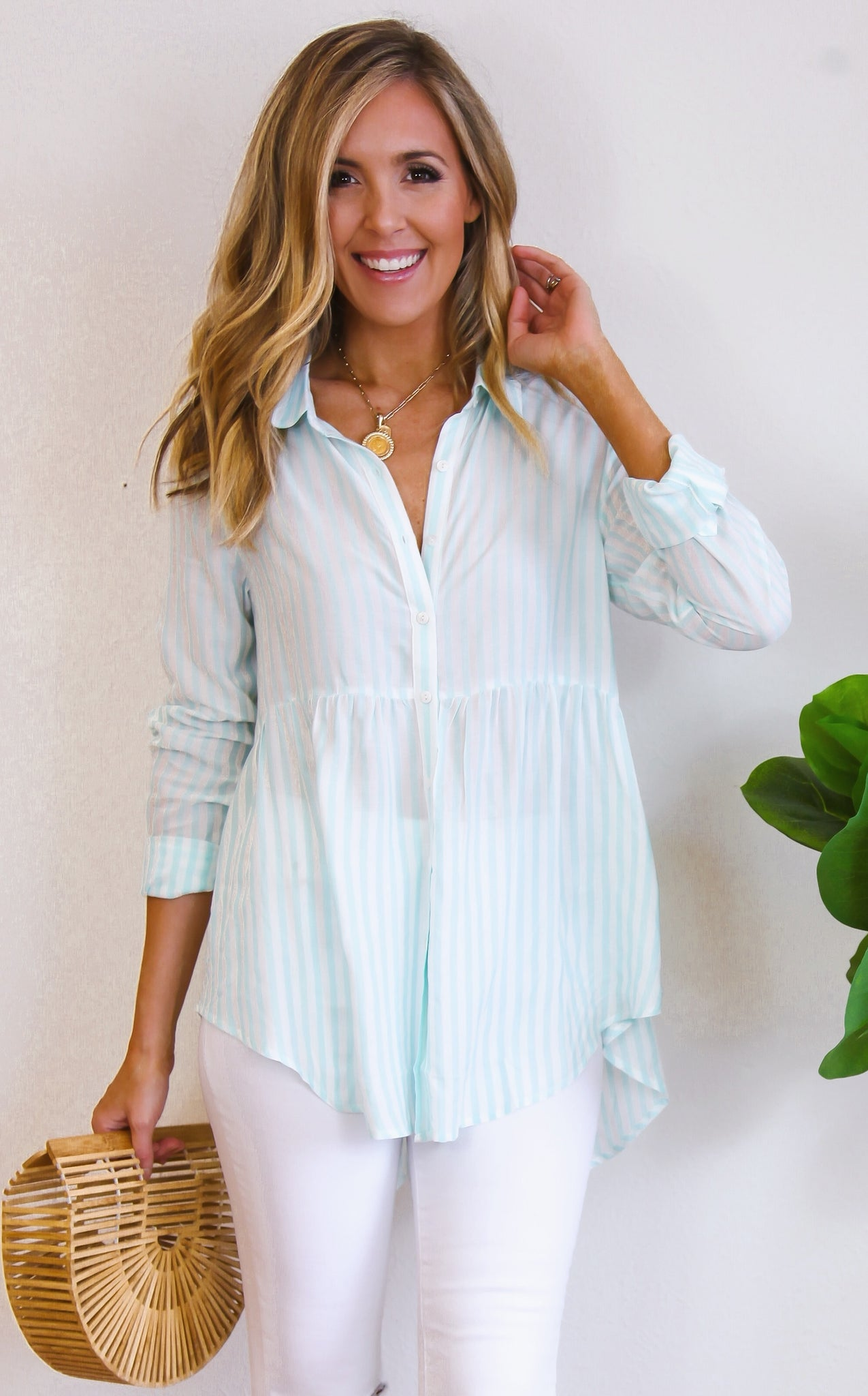 PRETTY IN STRIPE - MINT
