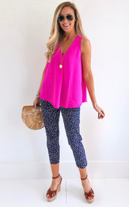 BRIGHT DOT CAPRI - NAVY