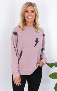 ELLE LAIN - LIGHT IT UP PULLOVER - MAUVE