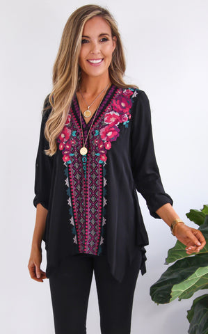 SHARON EMBROIDERED TUNIC