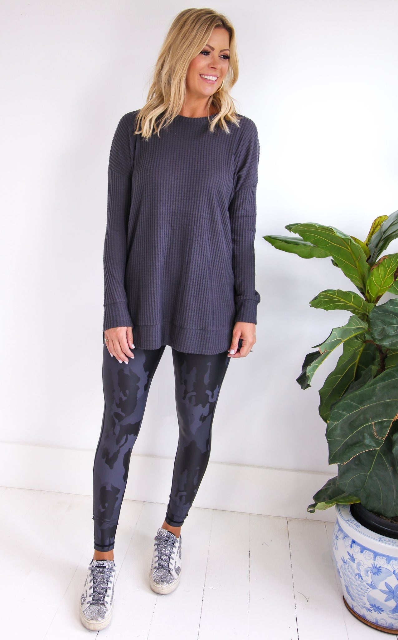 ELLE LAIN - EASY GOING THERMAL - ASH GREY