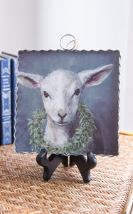 MINI PIE CRUST ART -  LAMB W/ WREATH