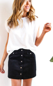ELLE LAIN - BOX SLEEVE TEE - WHITE