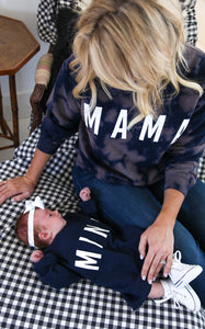 ELLE LAIN - MINI SWEATSHIRT - NAVY