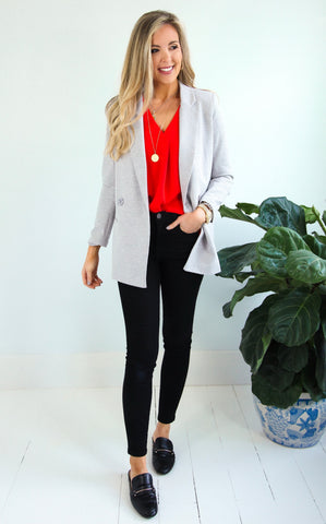 ELLE LAIN - HEATHERED BLAZER